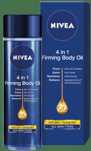 Nivea 4 in 1 Q10 стягащо олио за тяло